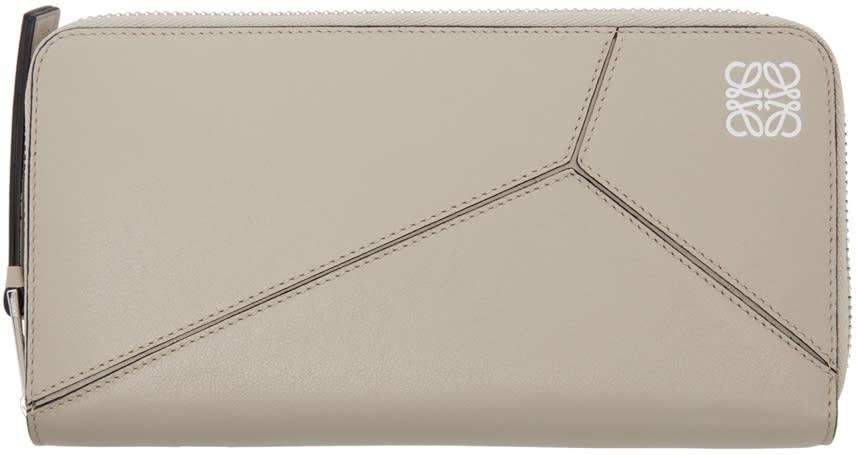 Loewe Beige Zipper Puzzle Wallet