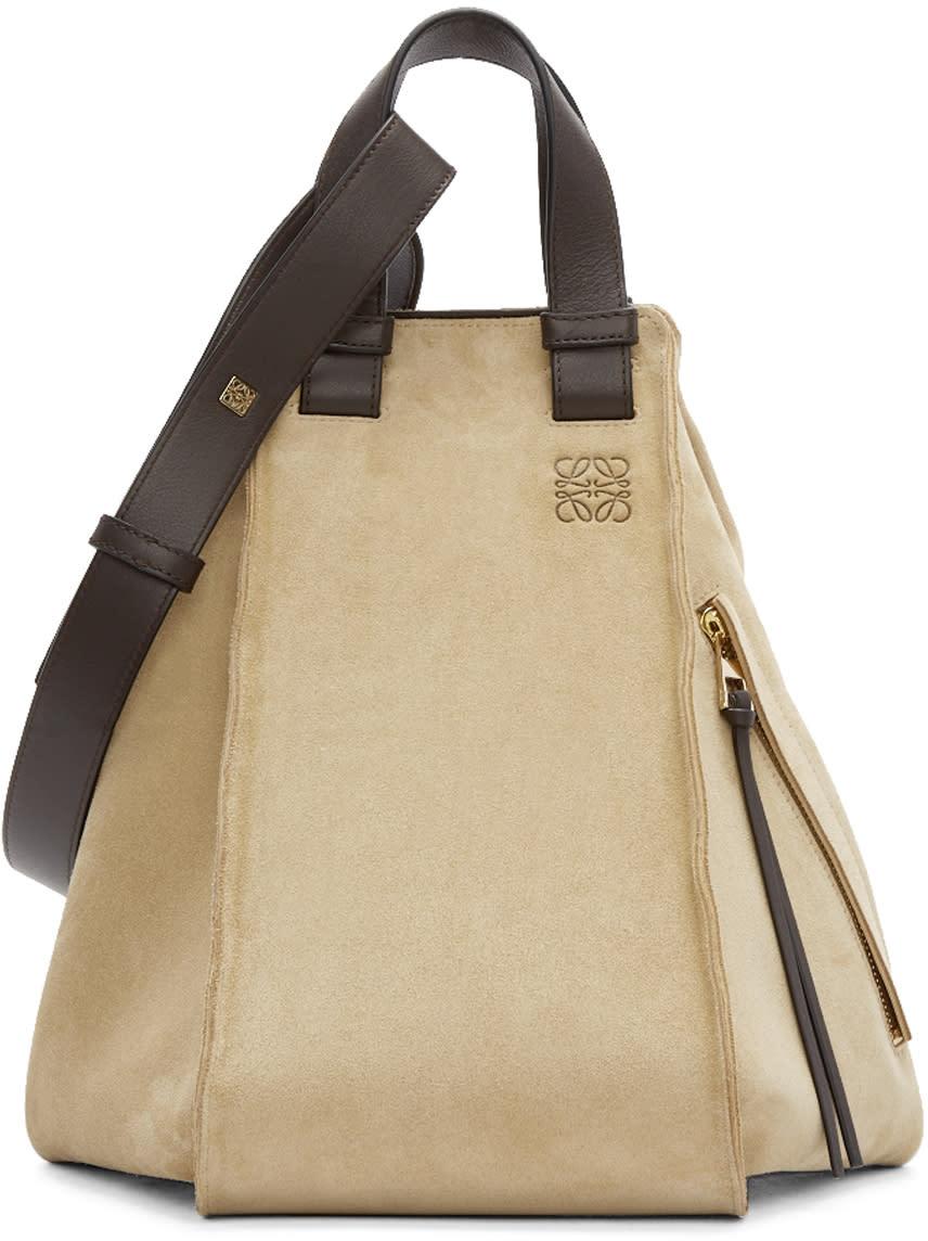 Loewe Tan Suede Small Hammock Bag