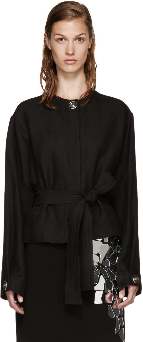 Loewe Black Linen Snaps Jacket