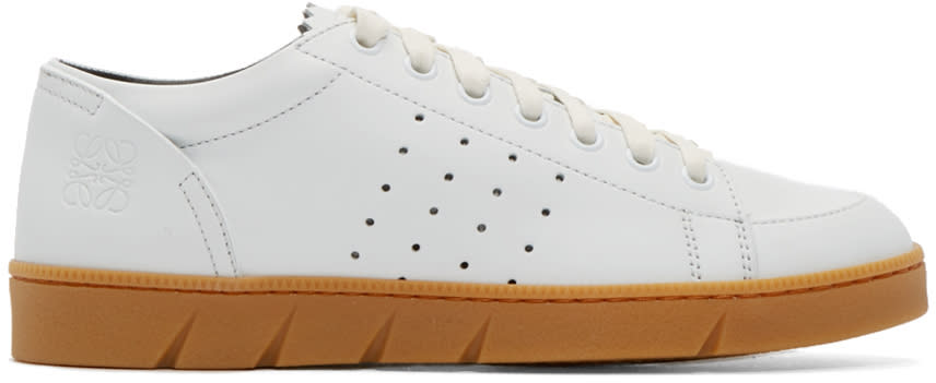 Loewe White Leather Sneakers