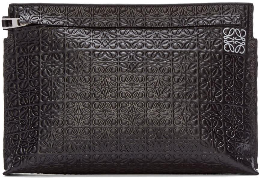 Loewe Black Large Anagram Zip Pouch