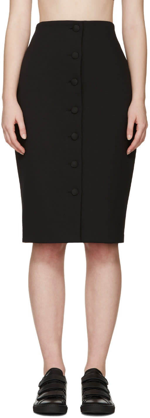 Harmony Black Gabardine Joan Skirt