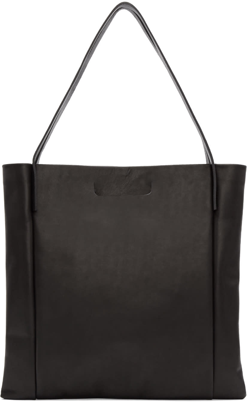 Chiyome Black Oversized Square Tote