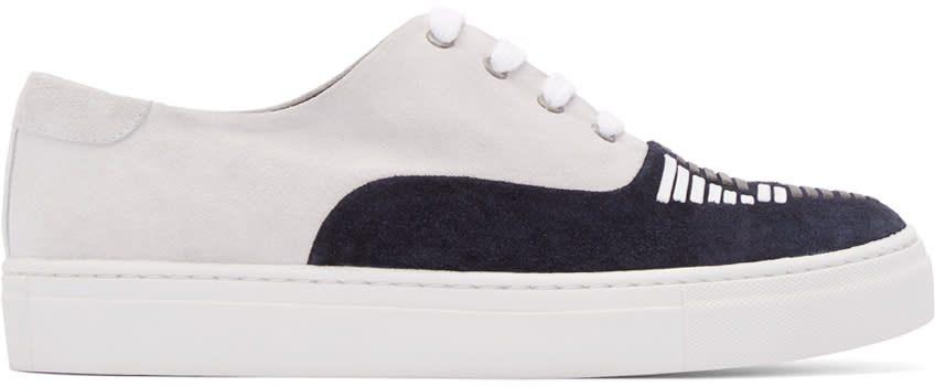 Toga Virilis Grey and Black Suede Sneakers