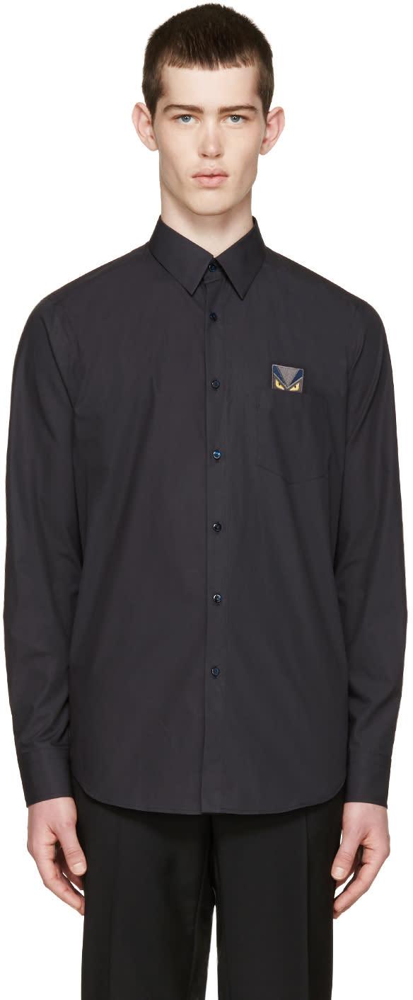 Fendi Black Pocket Monster Shirt