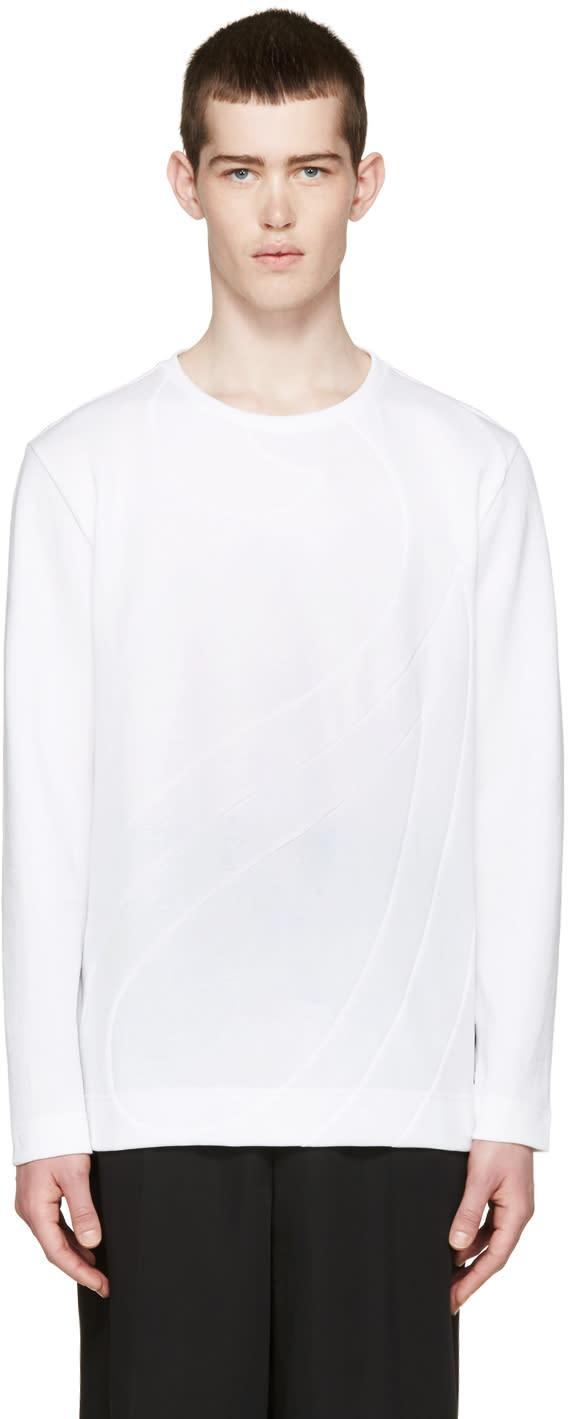 Fendi White Panelled Pullover