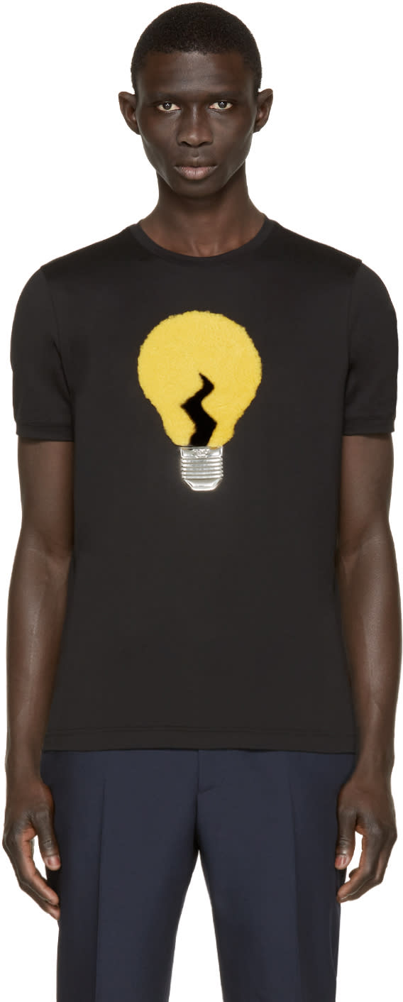 Fendi Black Light Bulb Appliqué T-shirt