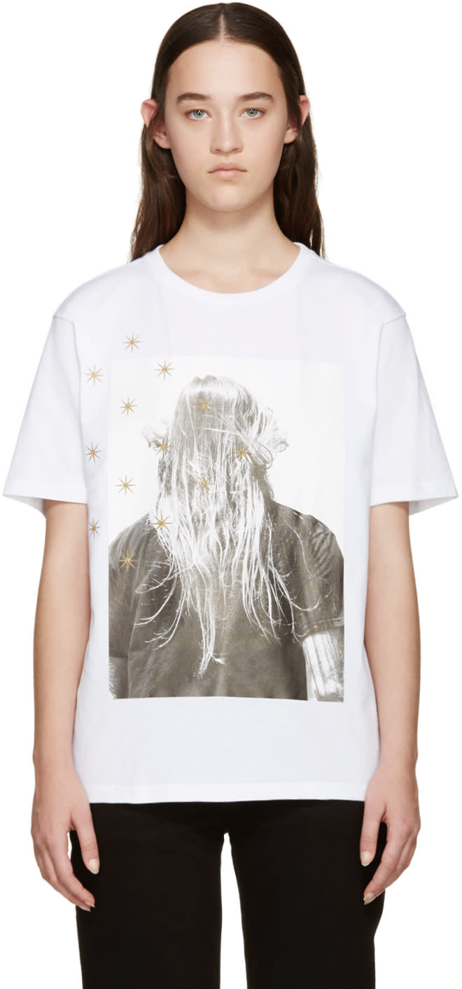 Palm Angels White Iconic Angels T-shirt