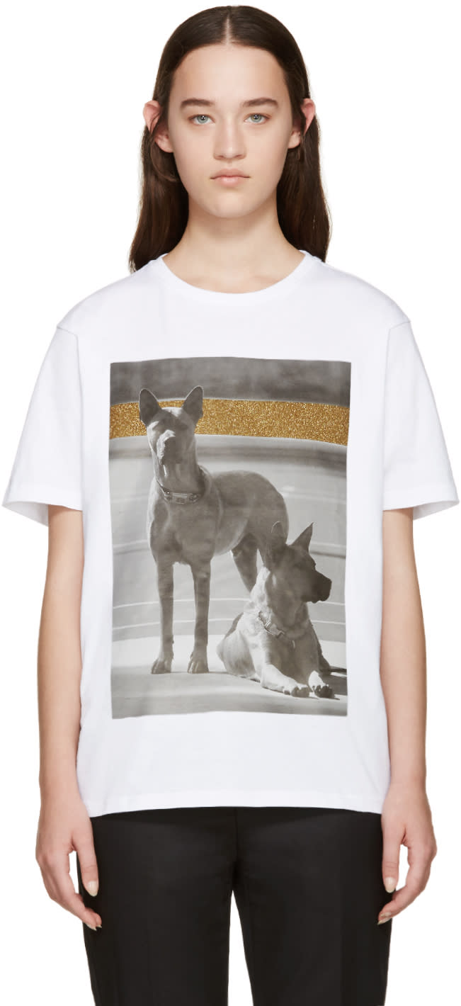 Palm Angels White Dogs T-shirt