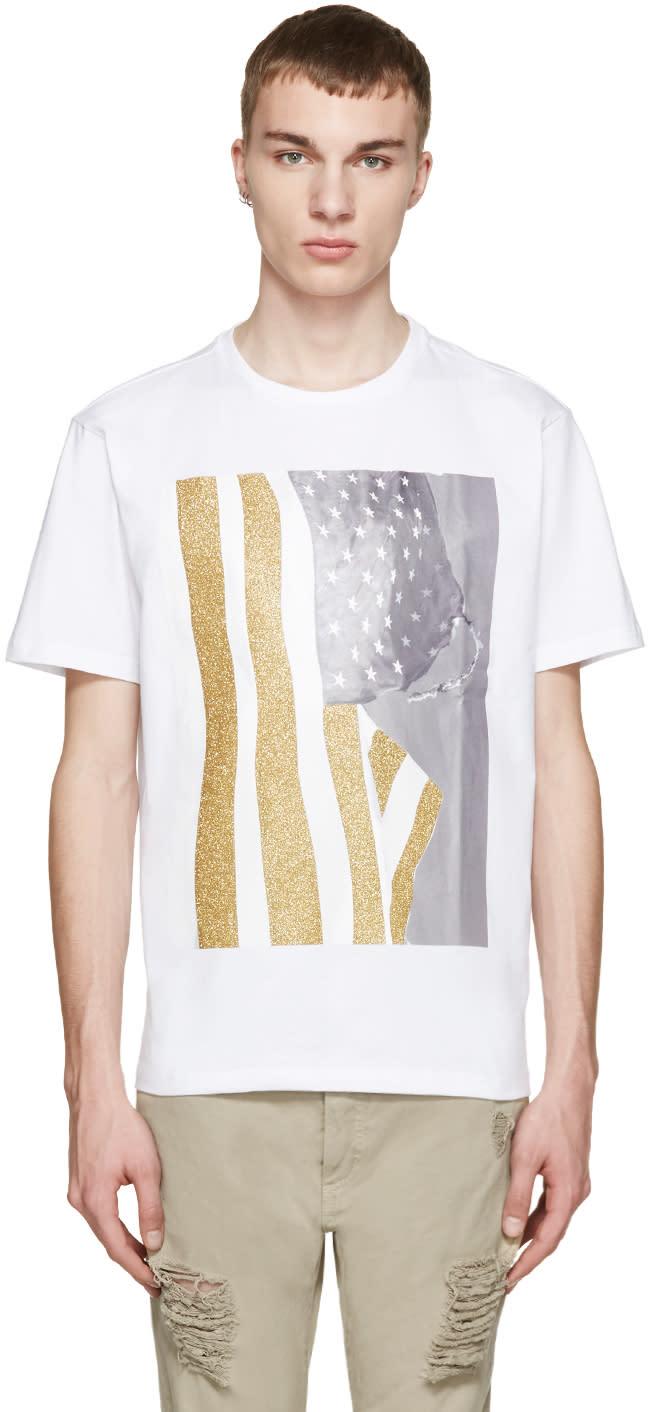 Palm Angels White Flag T-shirt
