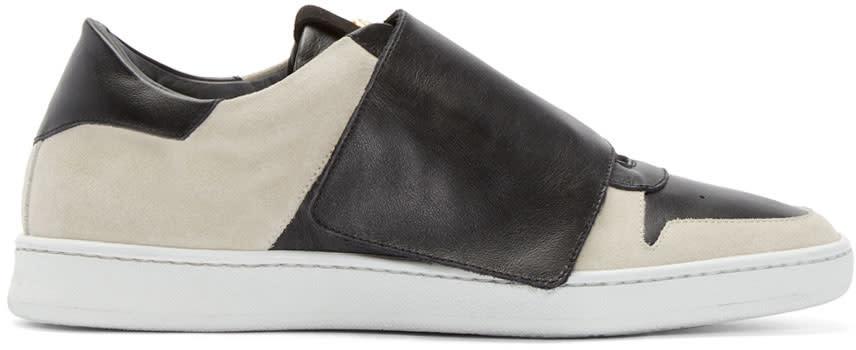 Palm Angels Beige and Black Suede Basket Sneakers