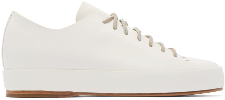 Feit White Hand Sewn Sneakers