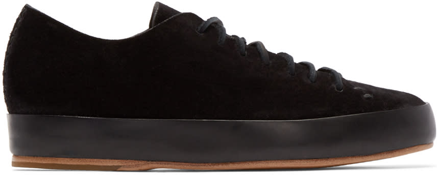 Feit Black Hand Sewn Sneakers