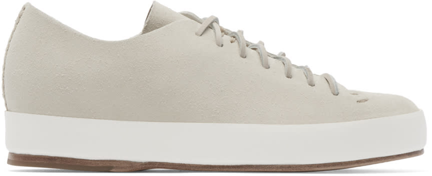 Feit Beige Hand Sewn Sneakers