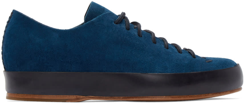 Feit Navy Hand Sewn Sneakers