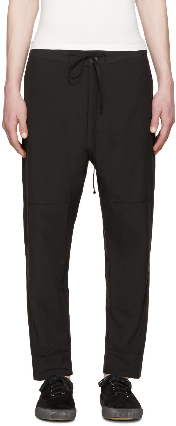 Song For The Mute Black Drawstring Trousers