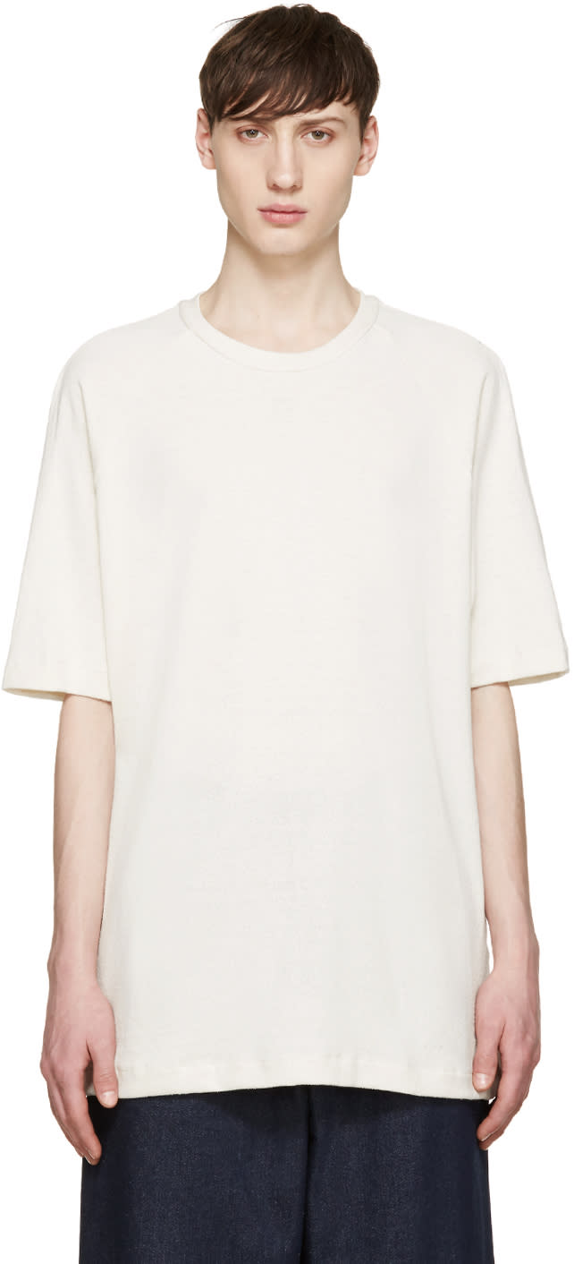 Song For The Mute Off-white Knit Raglan T-shirt