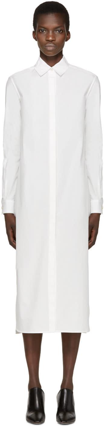 Rosetta Getty Ivory Poplin Shirt Dress