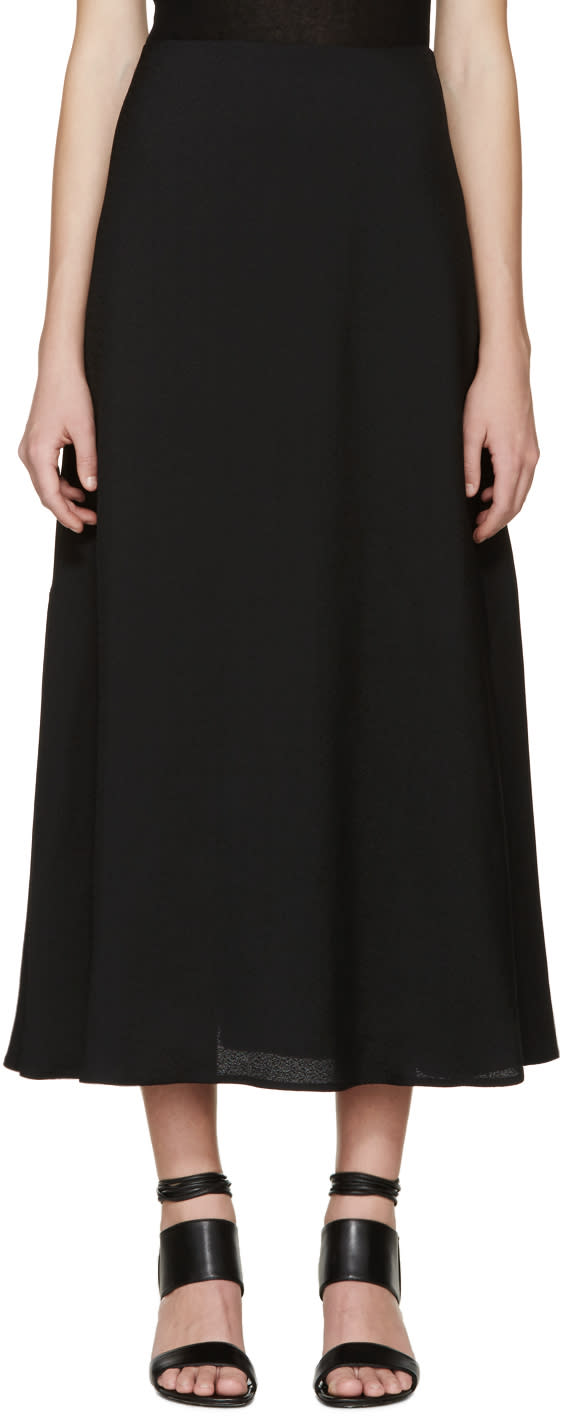 Image of Rosetta Getty Black Flared Skirt
