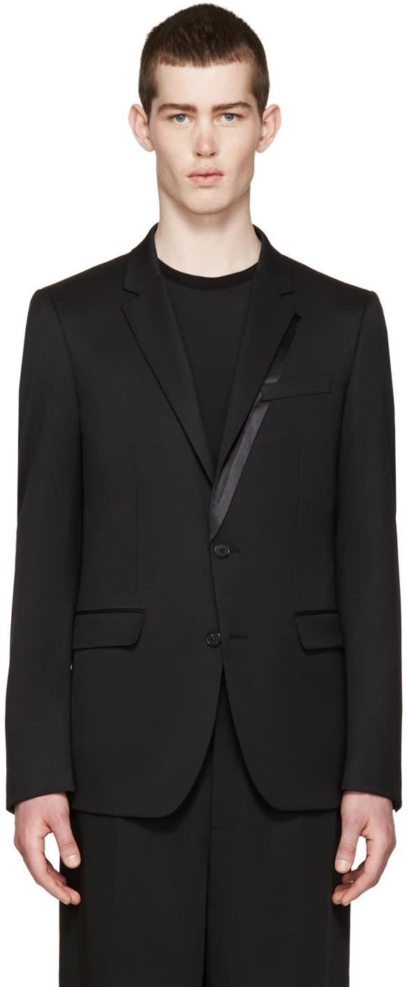 Wooyoungmi Black Wool Tuxedo Blazer