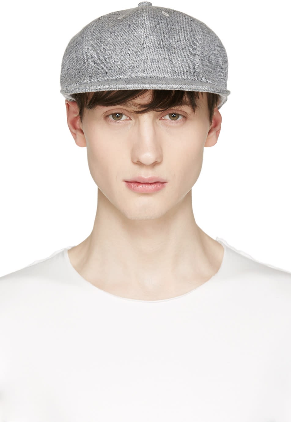Attachment Grey Linen Cap