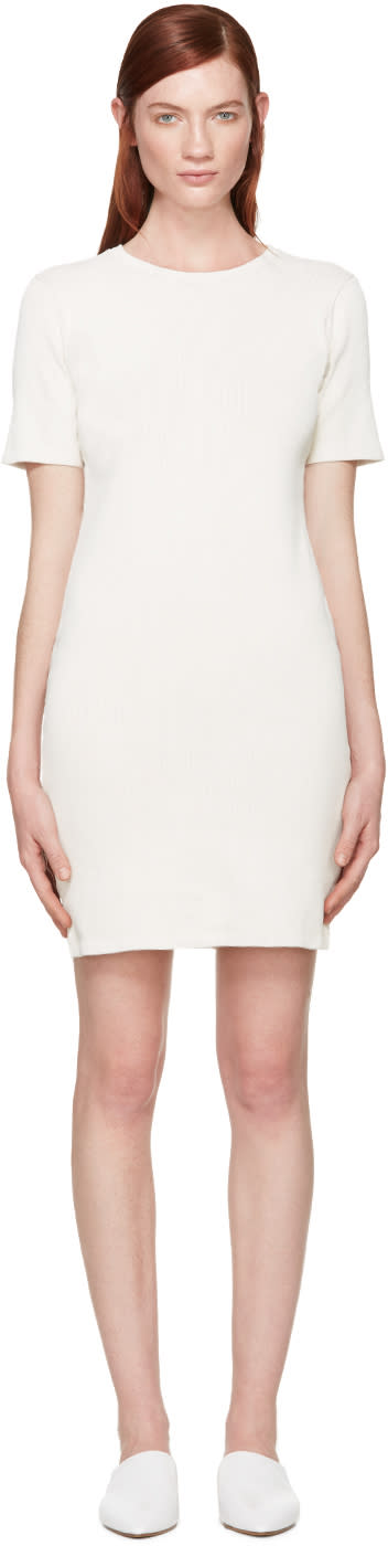 Simon Miller Ivory Ribbed Denali Dress
