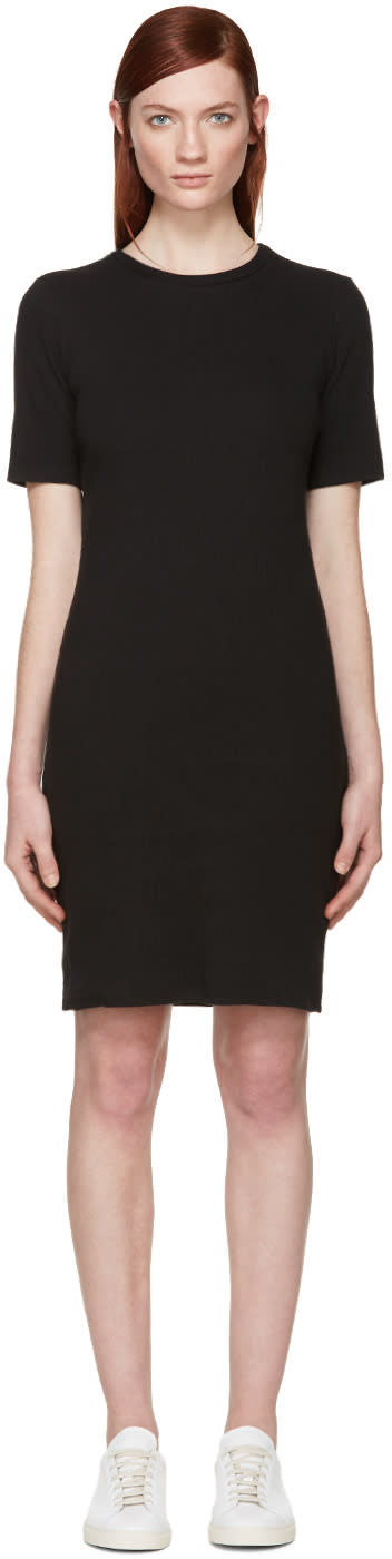 Simon Miller Black Ribbed Denali Dress
