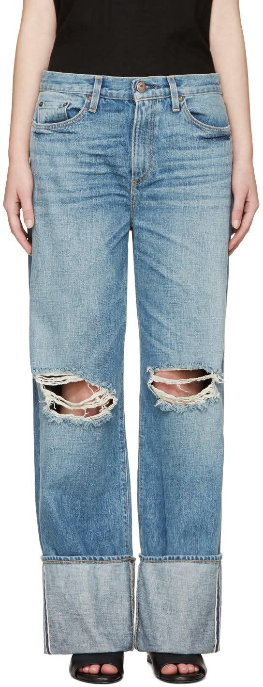 Simon Miller Blue Cuffed Arapo Jeans