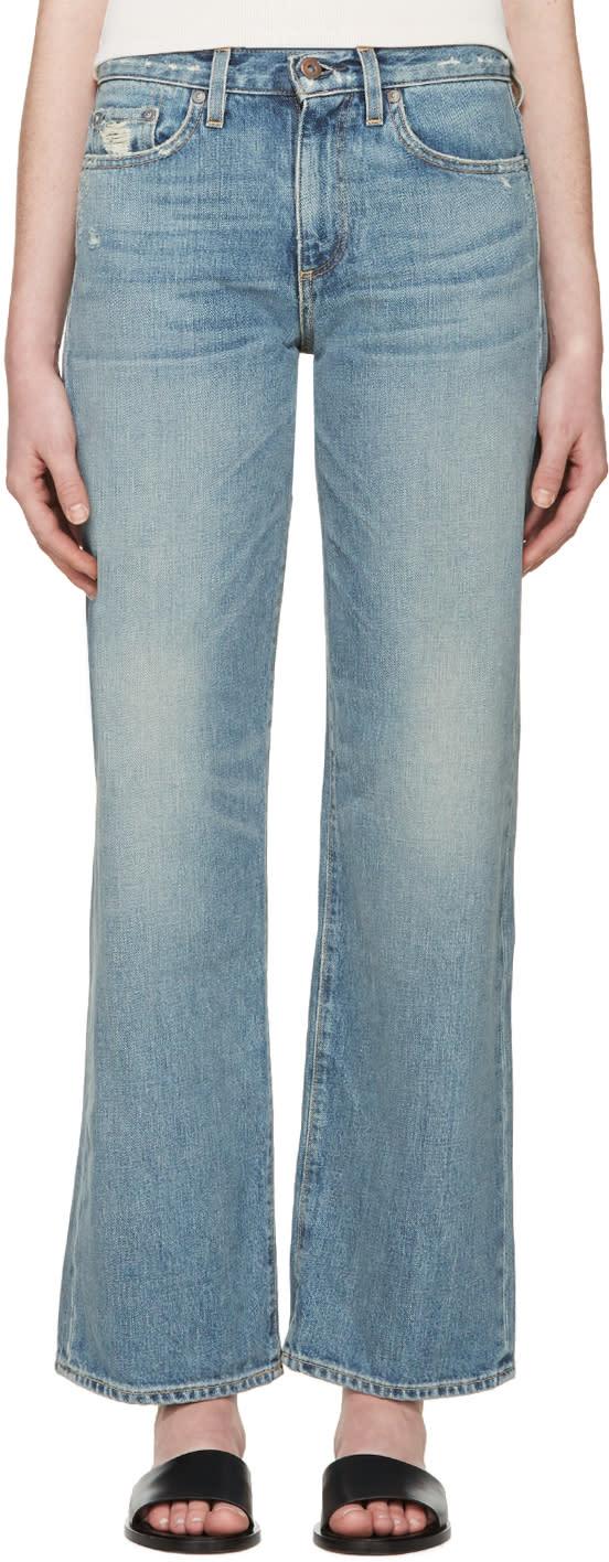 Simon Miller Blue Wide-leg W006 Caja Jeans