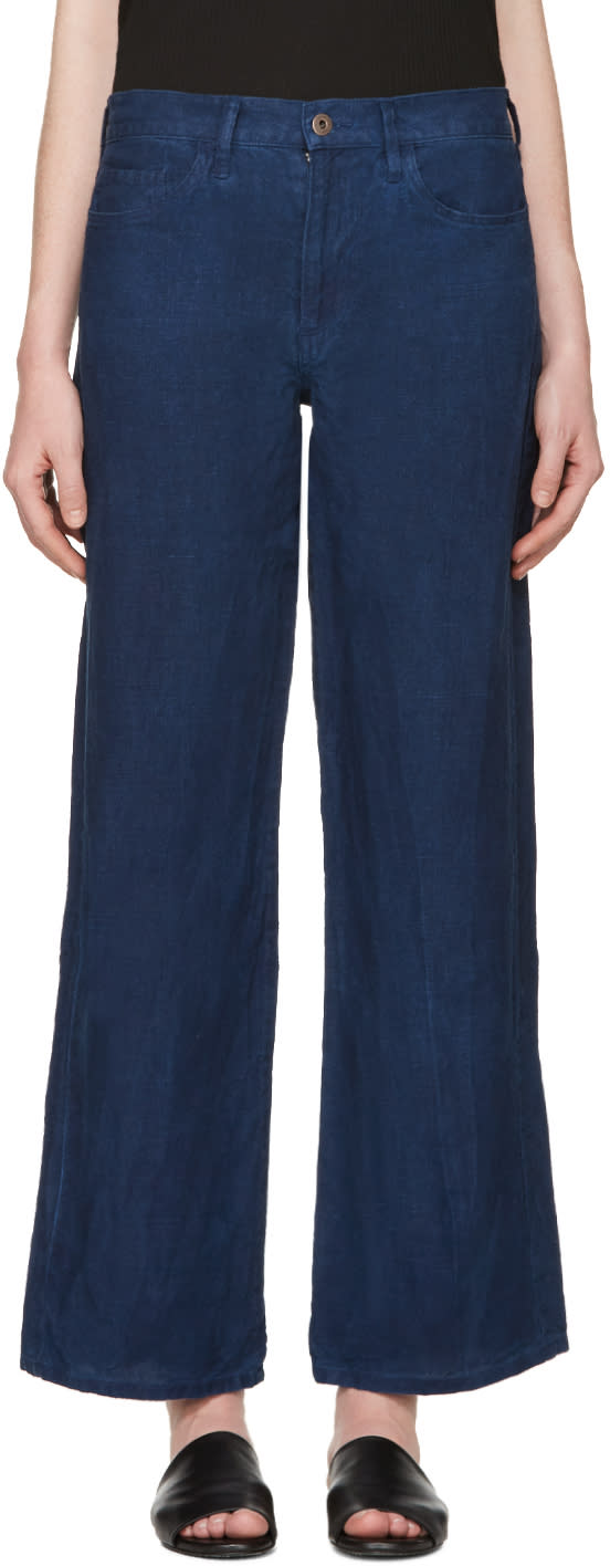 Simon Miller Blue Linen Toma Trousers
