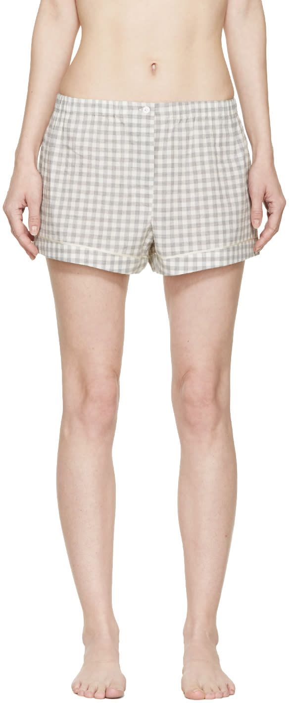 Araks Grey Gingham Pyjama Tia Shorts
