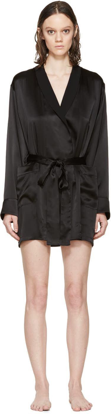 Araks Black Silk Madeline Robe