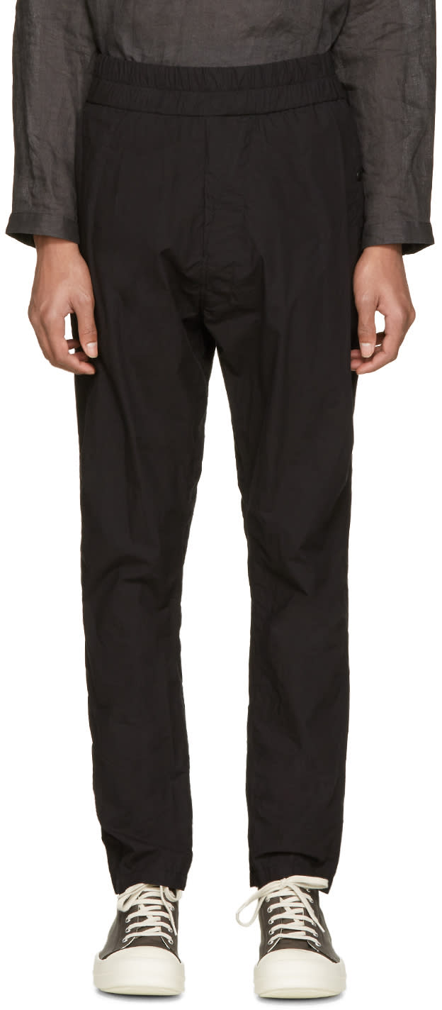 Nilos Black Drop Crotch Trousers