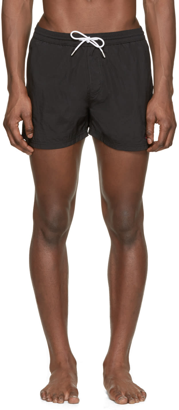Burberry Brit Black Embroidered Logo Swim Shorts