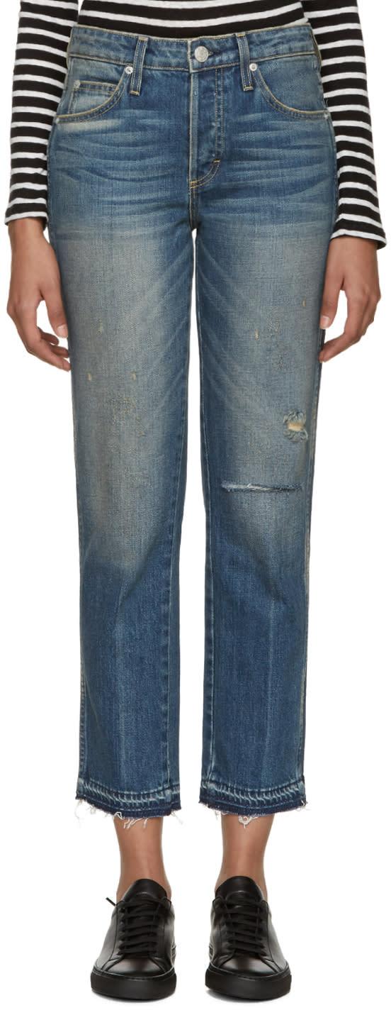 Amo Indigo Distressed Babe Jeans