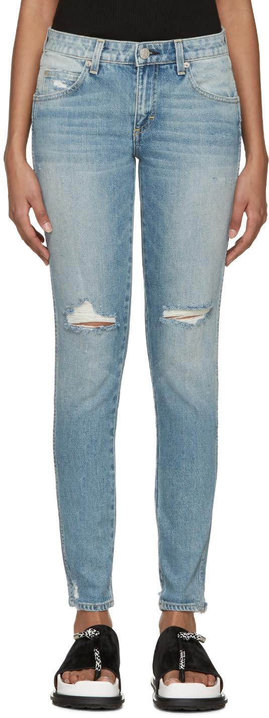 Amo Blue Destroyed Stix Jeans
