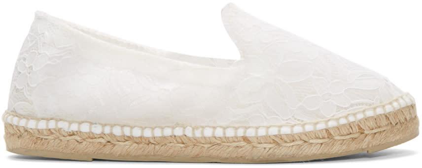 Manebi White Lace Paris Espadrilles