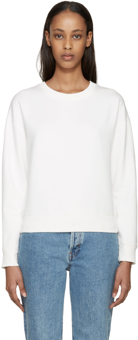 Earnest Sewn White Abby Sweatshirt