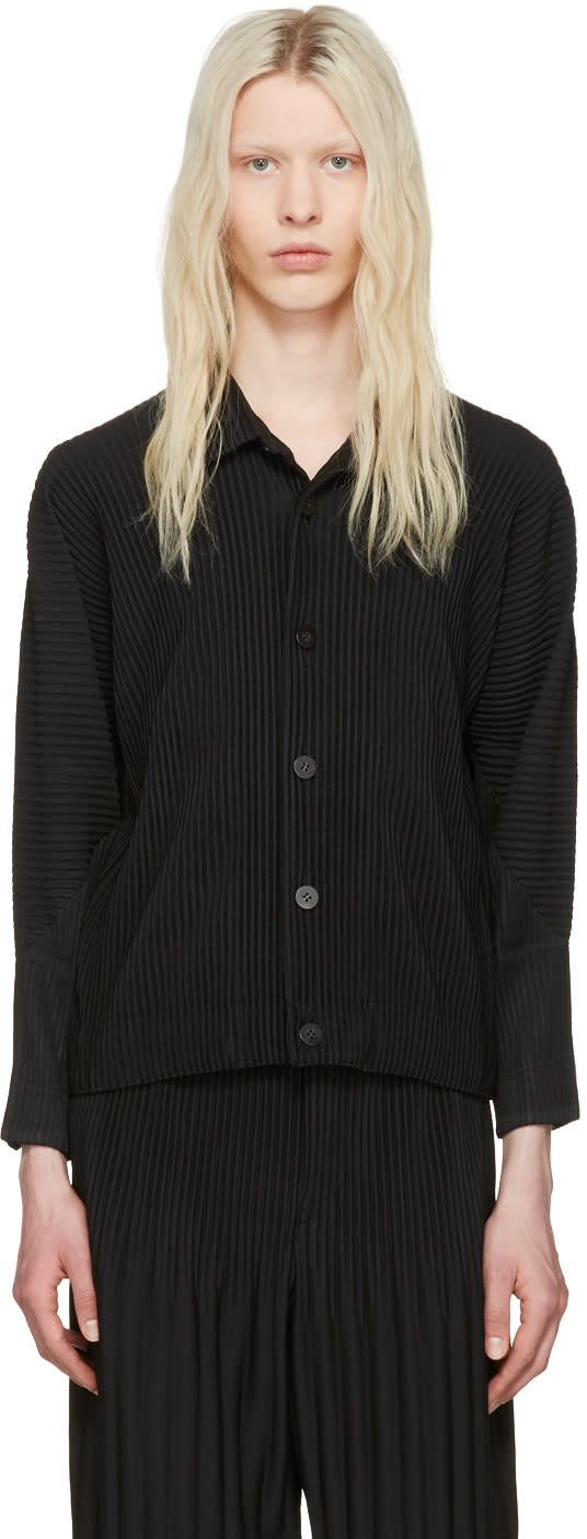 Homme Plissé Issey Miyake Black Pleated Shirt
