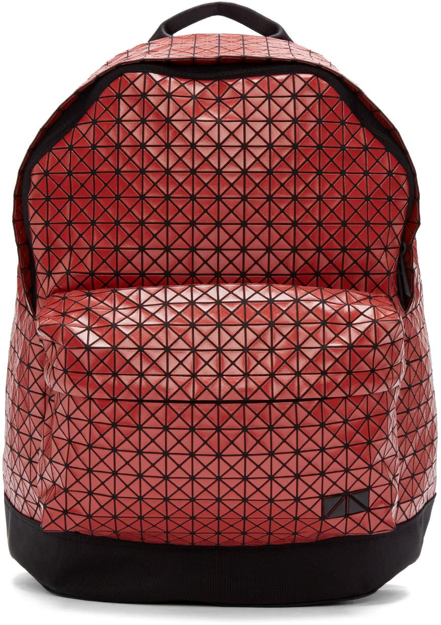 Bao Bao Issey Miyake Red Geometric Backpack
