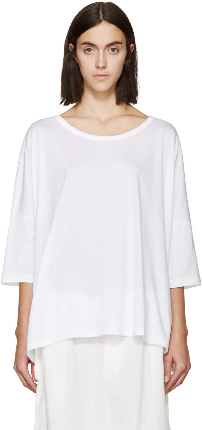 Ys White Oversized T-shirt