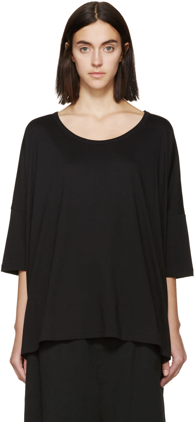 Ys Black Oversized T-shirt