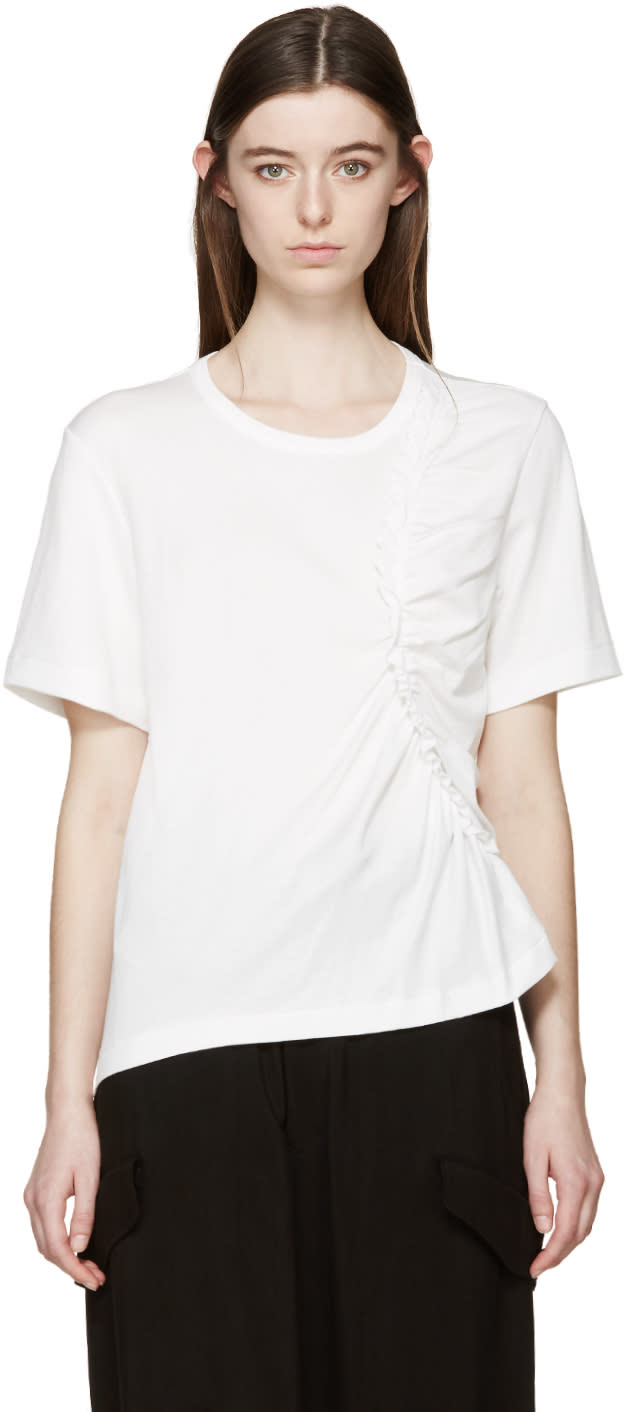 Ys White Scramble Interlock T-shirt