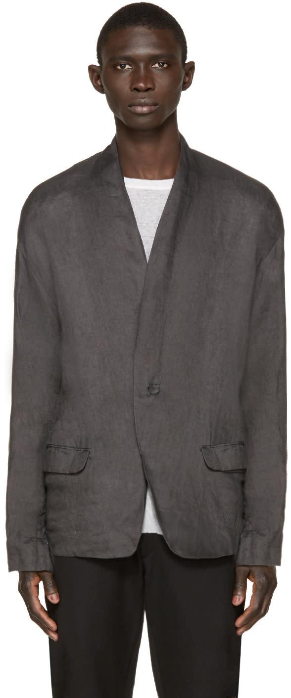 Isabel Benenato Grey Knit Panel Blazer