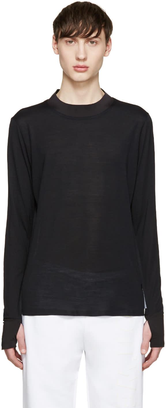 Satisfy Black Long Wool T-shirt