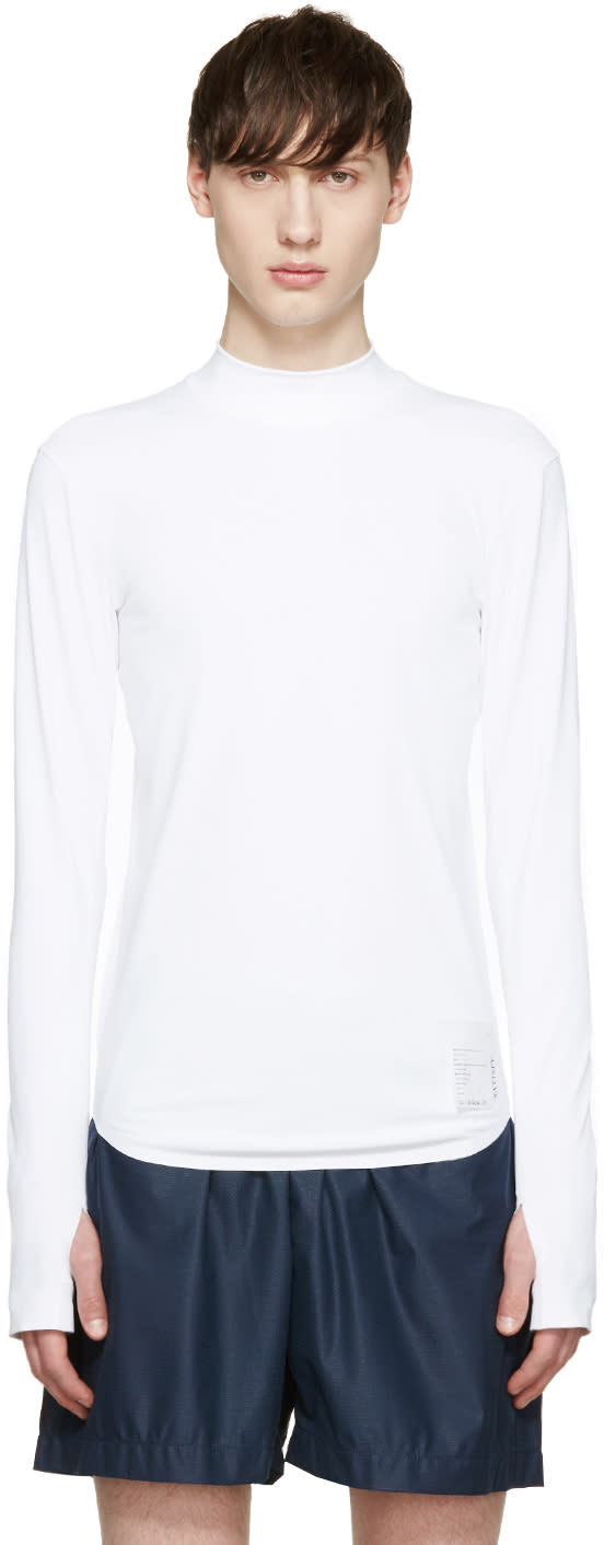 Satisfy White Long Compression T-shirt