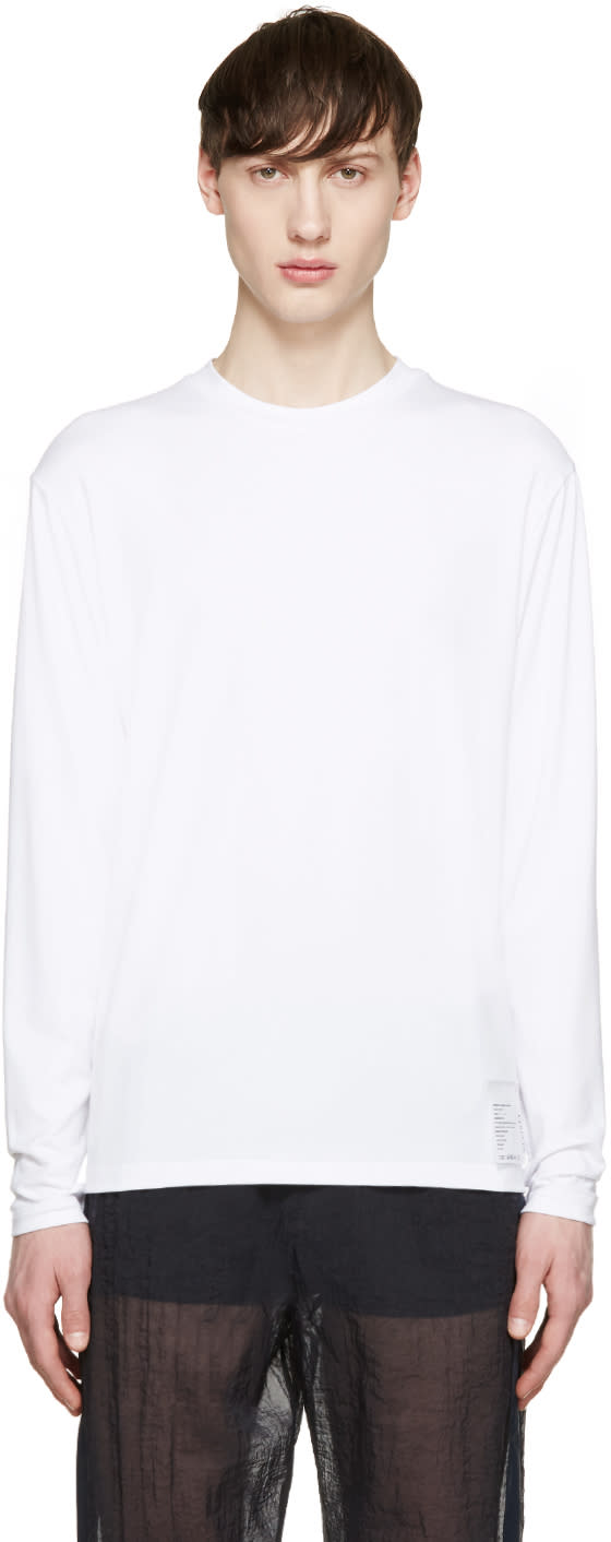 Satisfy White Long Sleeve Packable T-shirt