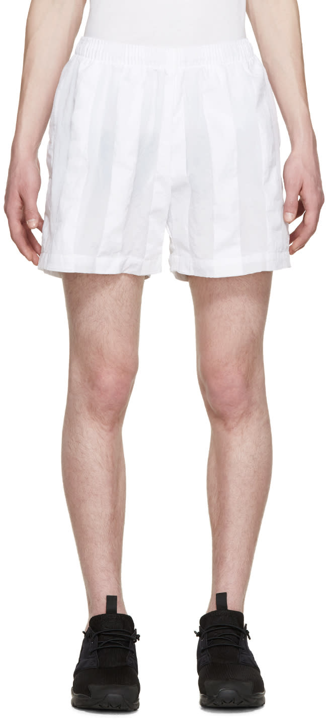 Cottweiler White Striped Robe Shorts