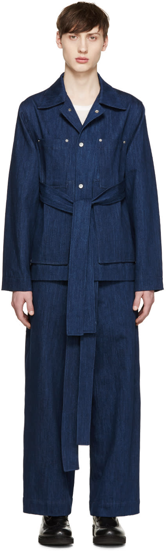 Craig Green Blue Denim Workwear Jacket