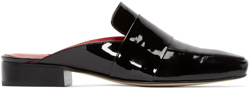 Dorateymur Black Patent Leather Filiskiye Mules
